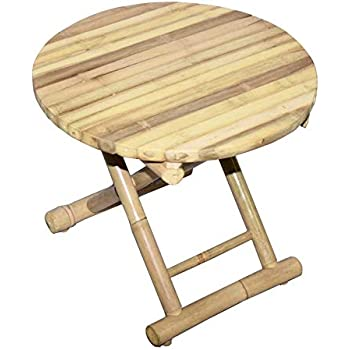 Amazon.com: Bamboo Round End Table - Hand Made End Table ...