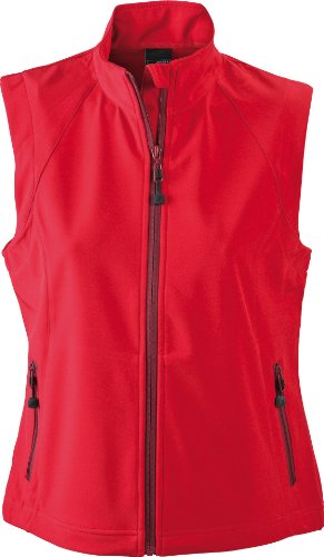 James & Nicholson - Soft shell para mujer Rojo (red)