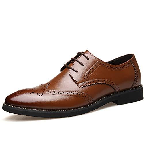 pelle 43 Xujw uomo pelle inglese Basse 2018 casual da Marrone vera Oxford uomo brogue Color stile Scarpe EU da in Scarpe in Dimensione Stringate Nero shoes qrawxqUgA