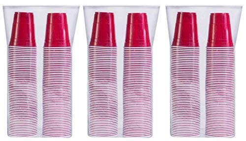 SOLO Cup Company P16R-300 Red Solo Cold Plastic Party Cups 16 Ounce 300 Pack