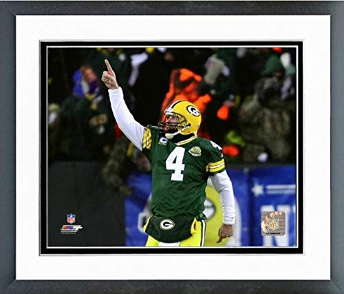 Brett Favre Green Bay Packers Final Game Action Photo (Size: 12.5