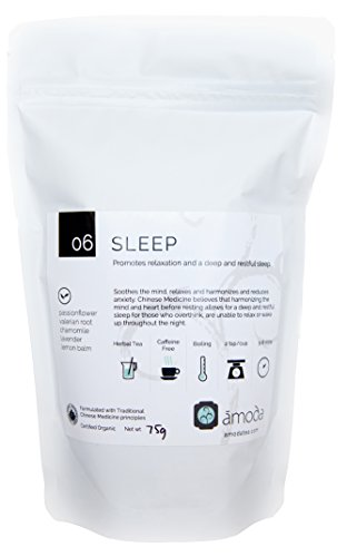 Valerian Root Tea (SLEEP TEA by Amoda - SLEEP AID - SLEEP - ORGANIC TEA - A delicious keep calm sleepytime tea - Valerian, Chamomile, Passionflower, Lemon balm, Lavender, Calm, Bedtime tea, Nighttime tea, Calming 2.6oz)