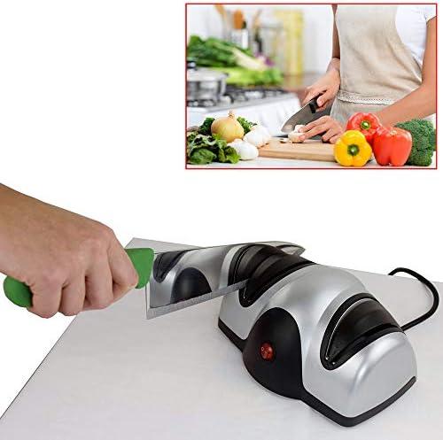 電動包丁研ぎ器-ギフト家庭用キッチン研磨剤用2段ナイフ&シザー研ぎ器研ぎ研ぎ器