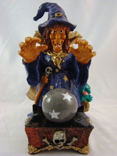 Rollin' Rocks Poly-Resin Water Powered Aquarium Ornament ''Witch'' by rollin' rocks