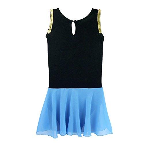 Freebily Kids Girls Princess Snow Queen Costume Embroidery Ballet Tutus Dancewear Black&Blue 8 by Freebily (Image #5)