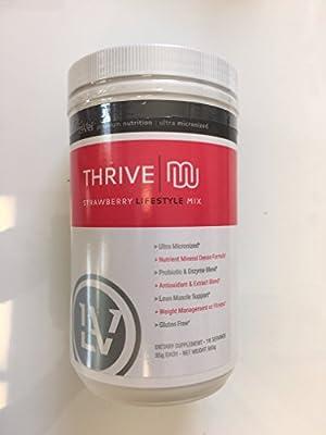 Thrive STRAWBERRY Premium Shake Mix - Canister GLUTEN FREE Ultra Micronized