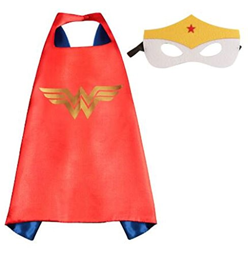 NYKKOLA Cartoon Dress Up Costumes Satin Capes with Felt Masks for Children Boy and Girl (NO.6) (NO.10)