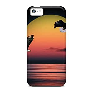 Slim Fit Protector Shock Absorbent Bumper Northwest Sunset Cases For Iphone 5c
