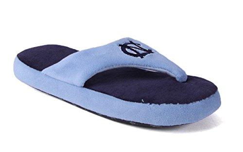 - NCU08-3 - North Carolina Tarheels - Large - Happy Feet Men's and Womens Comfy Flop Slipper
