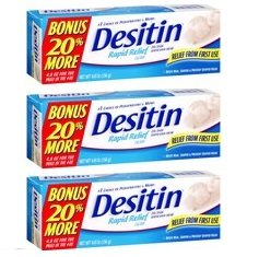 Desitin Rapid Relief (Creamy), 4.8 Ounces, (Pack of 3, 14.4 Ounces) by Desitin
