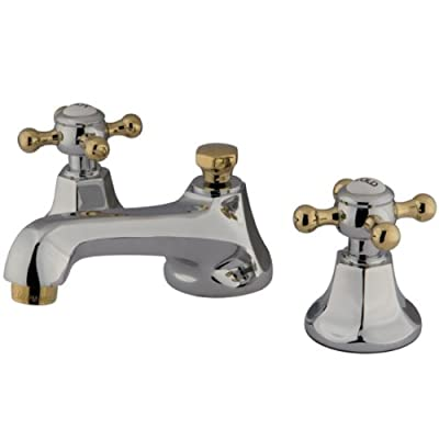 Kingston Brass KS446 BX Metropolitan Widespread Lavatory Faucet with Metal Cross Handle