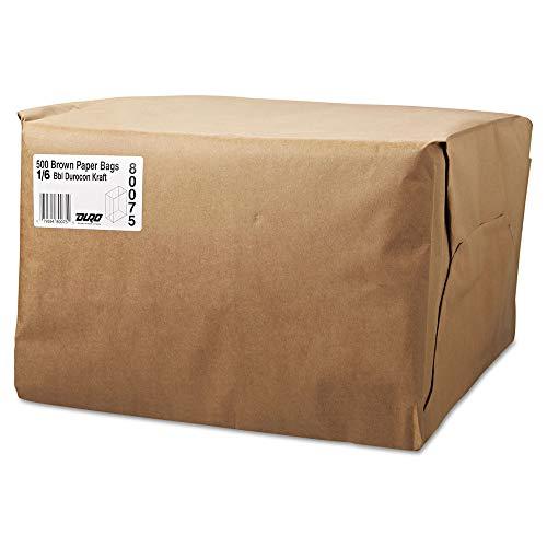 1/6 BBL Paper Grocery Bag, 52lb Kraft, Standard 12 x 7 x 17, 500 bags - General Grocery Paper Bags
