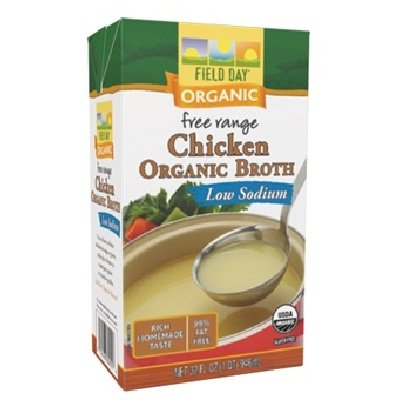 Field Day Broth Organic Chicken Low Sodium, 12 Count by Field Day