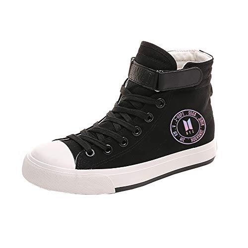 À Bts respirant Ultra Imprimées Chaussures Hautes Lacets Unisex Black08 Toile Etudiant FxI0qFpw