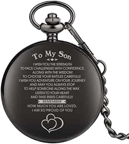 Engraved Pocket Watch, Pocket Watch for Boy, Personalized Gift