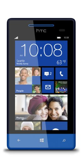 HTC 8S Unlocked GSM Windows Smartphone - Blue (Htc 8s Windows Phone compare prices)
