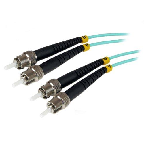 StarTech.com 1m Fiber Optic Cable - 10 Gb Aqua - Multimode Duplex 50/125 - LSZH - ST/ST - OM3 - ST to ST Fiber Patch Cable (A50FBSTST1)
