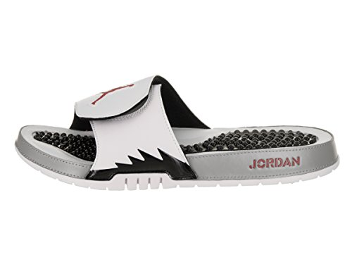 Herren Jordan Hydro V Retro Slide Weiß / Universität Rot Schwarz