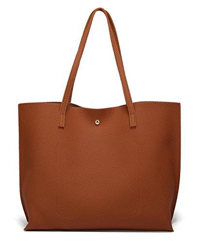Big Tassel Leather Bag from Dreubea Women's Handbag Tote Capacity Brown Soft Shoulder 0HFqzq1R