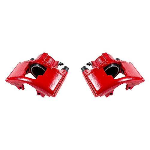 Chevy Brake Drum (CK00997 [ 2 ] FRONT Performance Grade Red Powder Coated Caliper Assembly Pair Set)
