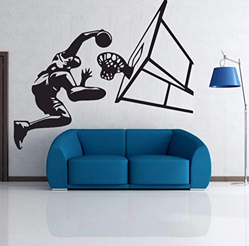 wsydd Boy Basketball Shoot Wall Stickers Mural Sports Physical Wallpaper Decals Teenage Students Men Classroom Home Decor 100X88cm