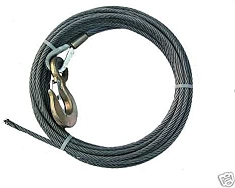 Super Strong BA Products 4-S1275LH Super Swage 1//2 x 75 Winch Cable with Self Locking Swivel Hook Tow Truck 6 x 26 IWRC Wire Rope for Wrecker Crane Rollback etc.