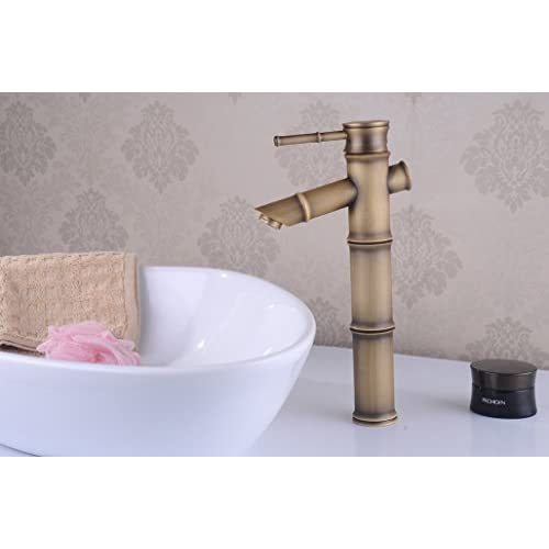 delicate SBWYLT-European golden hot and cold taps copper antique bathroom American blue and white porcelain basin wash basin tap