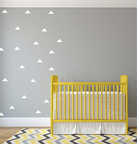 engsed Removable Vinyl Mural Decal Quotes Art 30Pcs Triangle Peel Stick Wall Art for Nursery Kids Room Bedroom Living Room 2