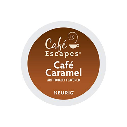 Cafe Escapes, Cafe Caramel Coffee Beverage, Single-Serve Keurig K-Cup Pods, 96 Count (4 Boxes of 24 Pods) 41spQwDEXAL