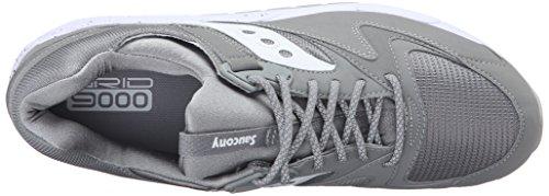 Saucony Mænd Gitter 9000 Lav Sneaker, 41 Eu Grå (grå / Hvid)