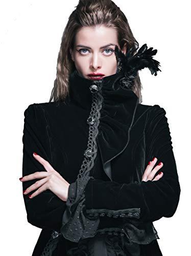 Steampunk Coat Gothic Clothing Punk Jacket Victorian Cyberpunk Renaissance Costume (L)