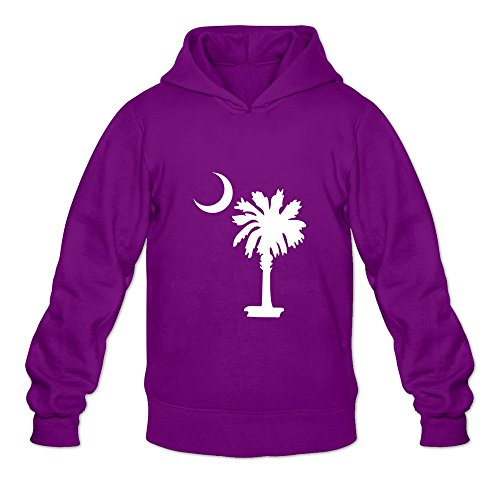 (South Carolina Unique Roundneck Purple Long Sleeve Hoodies For Adult Size)