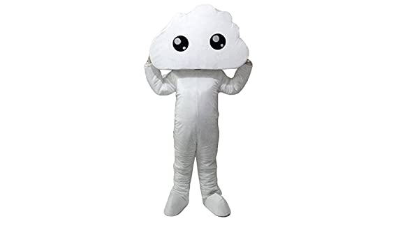 Nube mascota disfraz Mascot Cartoon imagen real: Amazon.es ...