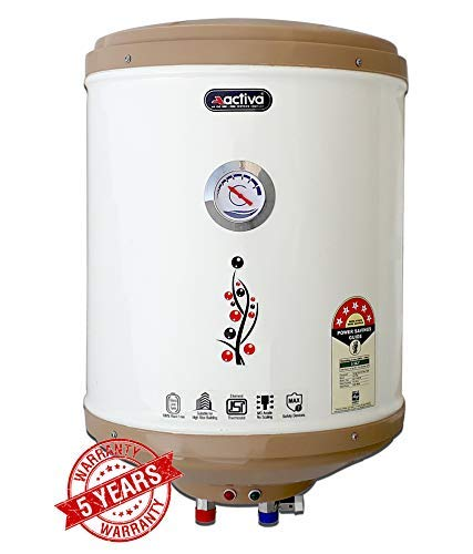 ACTIVA 15 Ltr Storage Water Geyser (GLASSLINE 5 STAR, IVORY)