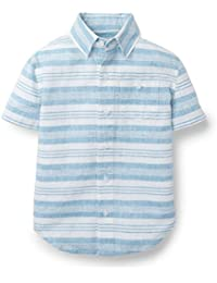 Boys' Slubby Poplin Short Sleeve Button Up Made with Organic Cotton