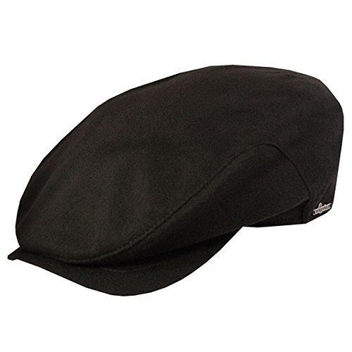 Wigens 100% Cashmere Belted Ivy Cap-Black-60
