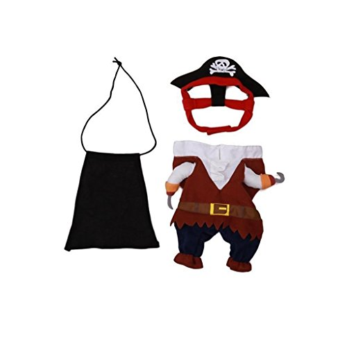 GUAngqi Pet Dog Cat Pirate Sailor Halloween Xmas Fancy Dress Costume Outfit Clothes