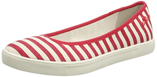 s.Oliver Women's 22101 Ballet Flats Red (Red/Nature 504)