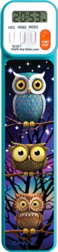 Mark-My-Time 3D Owls Digital Bookmark and Reading Timer from Mark-My-Time