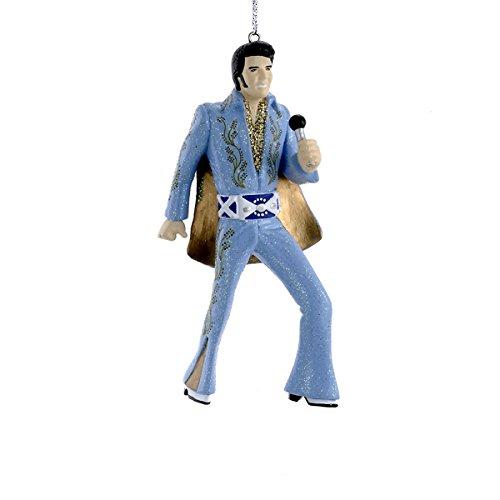 Ornament Indoor (Kurt Adler Elvis in Blue Suit Blow Mold Ornament)