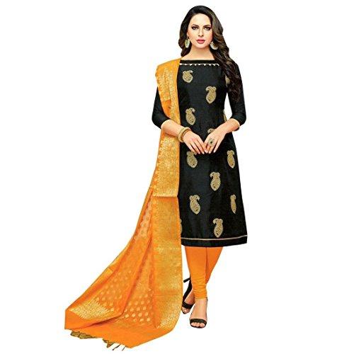 e540e01c7f Ladyline Designer Partywear Salwar Kameez With Banarasi Silk Dupatta ...