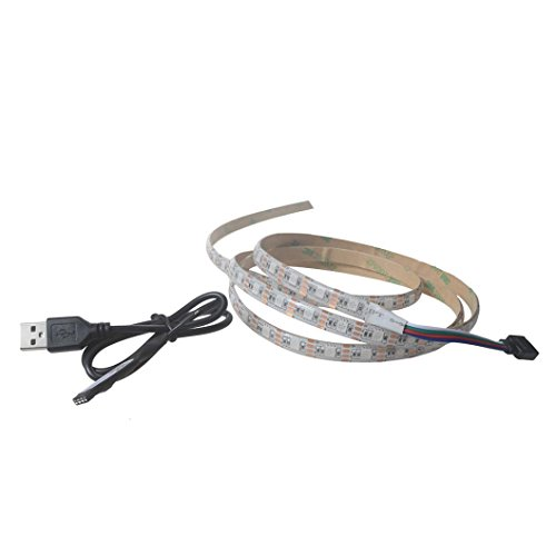Price comparison product image Belloc LED Light Strip - 5V 5050 9-30SMD/30-100CM RGB TV LED Strip Lights - Waterproof LED Tape USB Light Strips BT 4.0 Control for TV Computer PC Bar Party DJ Music Decor (30cm, 9 lights, 1.41)