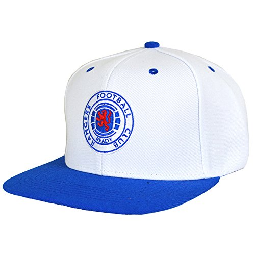Rangers FC Official Football Crest Snapback Cap (One Size) (Blue White) d65ae12f4