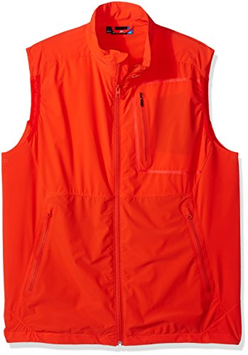 (J.Lindeberg Men's Lux Waterproof Softshell Vest, Racing red, Large)