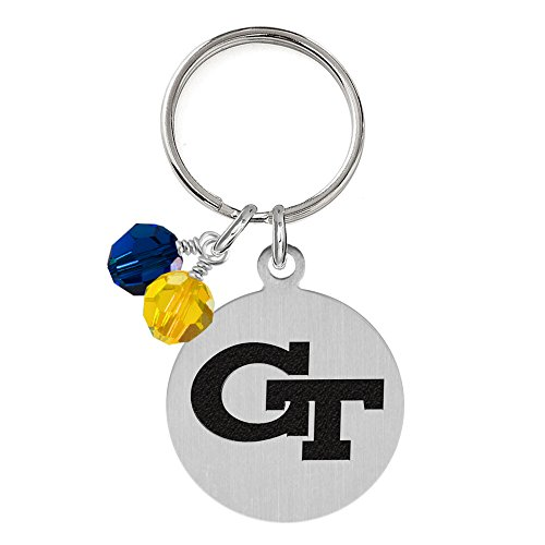 - Georgia Tech Yellow Jackets Dog Tag with Crystals   Pet Tag   Small Size   Cat Tag   College Pet Tags