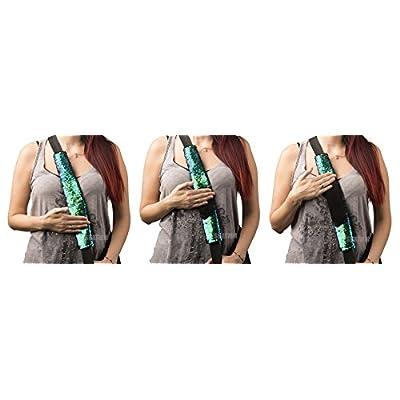 Color changing mermaid scale sequin seatbelt cover shoulder pad: Automotive