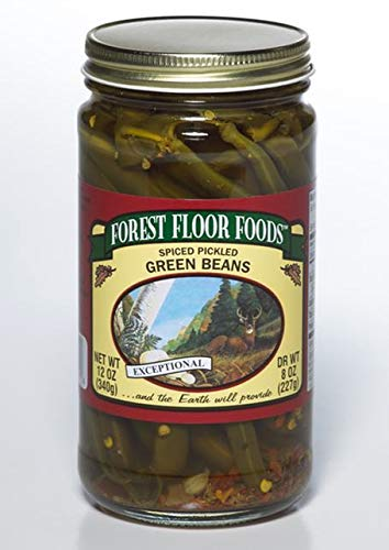 Forest Floor Foods Spiced Pickled Green Beans 12 Ounce