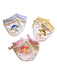 Mono  3 pares de mitones para bebés recién nacidos Manoplas sin algodón ... dea6f4db3f9