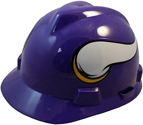 MSA NFL Ratchet Suspension Hardhats - Minnesota Vikings Hard Hats