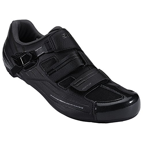 Shimano Integrated (Shimano Men's RP3 Black Road Cycling Shoes - 47)